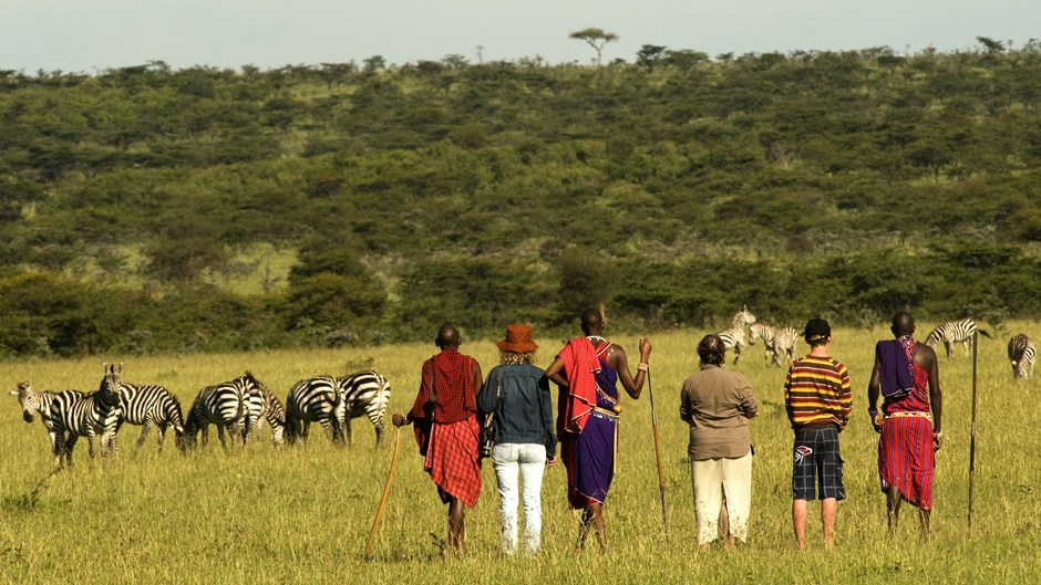 Walking safari in Naboisho Conservancy, Kenya
