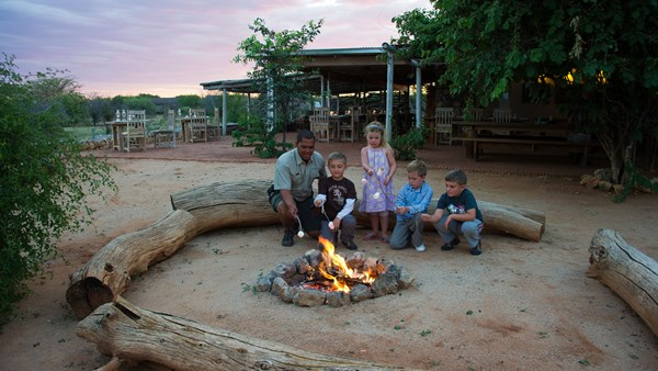Namibia safari accommodation; Andersson's Camp