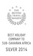 British Travel Awards 2014: Silver Award for Best Holiday Company to Sub-Saharan Africa