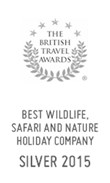 British Travel Awards 2015: Silver Award for Best Wildlife, Safari and Nature Holiday Company