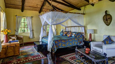 Bedroom - Virunga Lodge, Rwanda