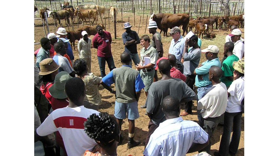 Farmers receiving livestock management training at the CCF, Courtesy of Cheetah Conservation Fund