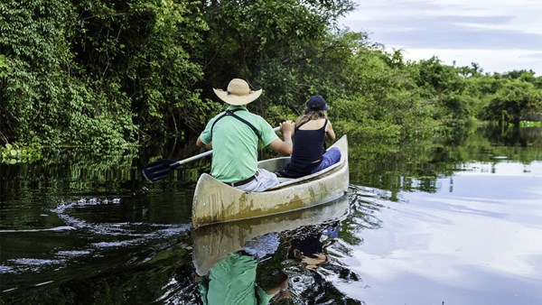 Canoeing in the Pantanal, Brazil