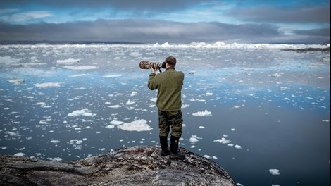 A Photographer At Work By The Sermilik Icefjord In East Greenland Mads Pihl Visit Greenland