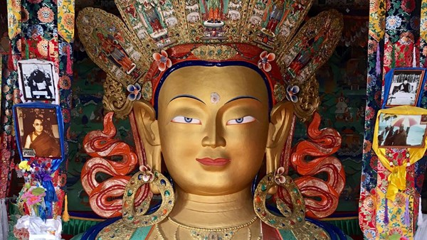 Statue of the Buddha in a Ladakh monastery, India, Harriet Reeves