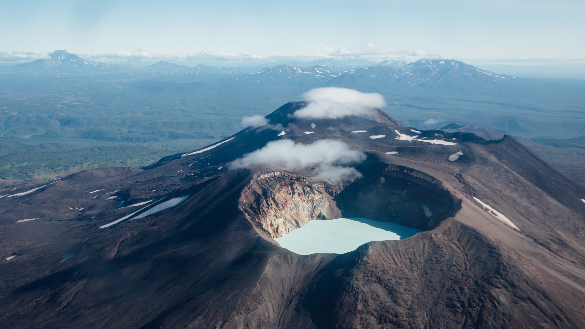Crater lake within Kamchatka's Maly Semyachik volcano, Sophy Roberts