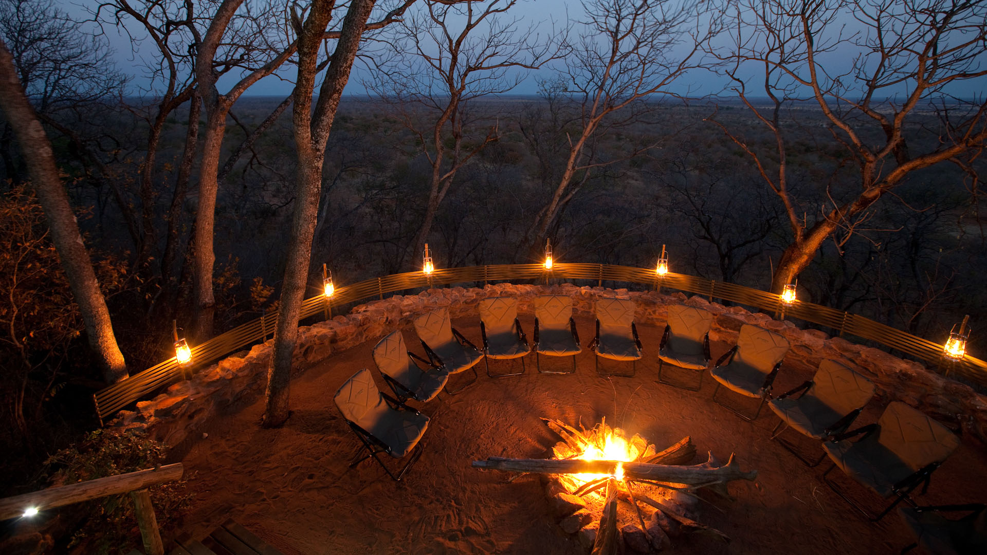Boma area by night - Ghoha Hills Camp - Safari Destinations